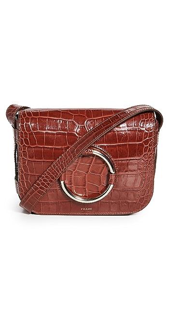 FRAME Le Ring Saddle Bag - Brandy Croc