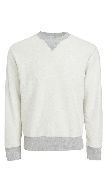 FRAME Long Sleeve Crew Neck Sweatshirt