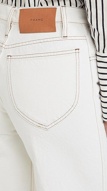 FRAME Le Italien Wide Crop Jeans