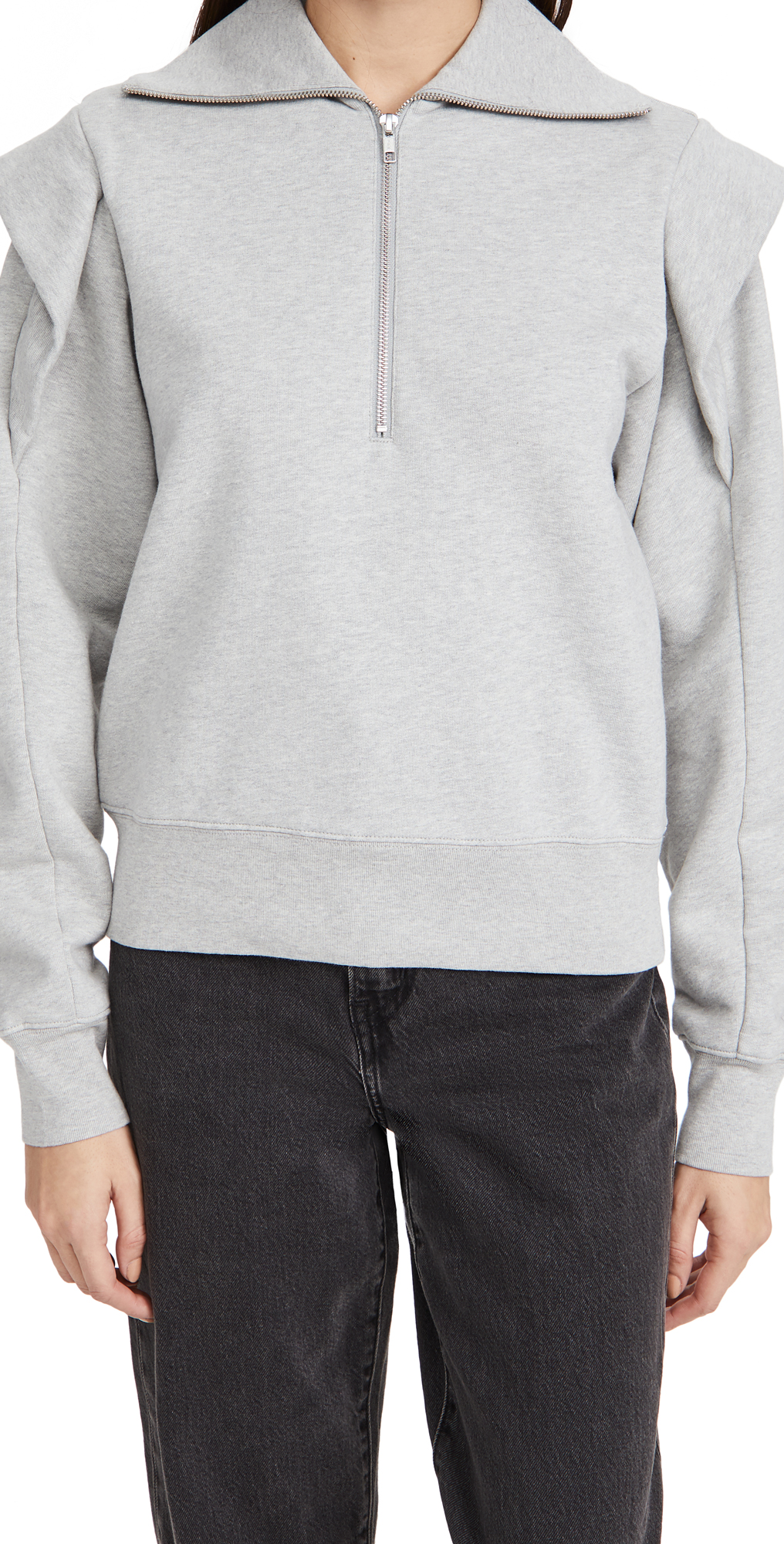 FRAME Sporty Zip Sweatshirt