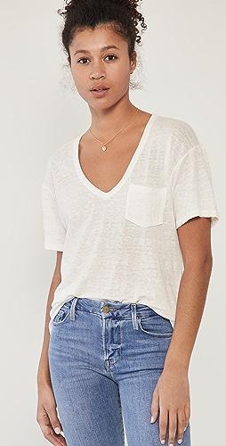 FRAME - 深 V 口袋 T 恤