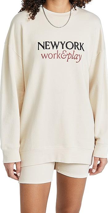 FRAME Work and Play Sweatshirt - Whisper White