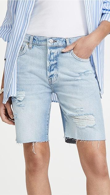 FRAME Le Slouch Bermuda Cutoff Shorts