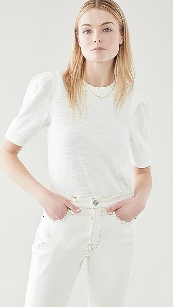 FRAME 裥褶拼接 T 恤