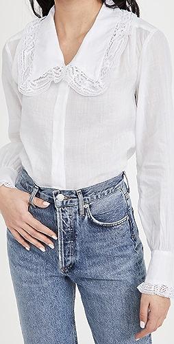 FRAME - 蕾丝衣领衬衫