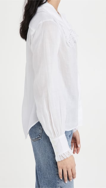 FRAME 蕾丝衣领衬衫