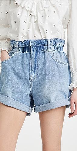 FRAME - Elastic Waist Shorts