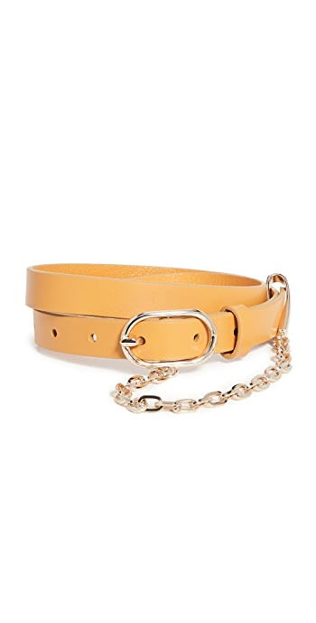 FRAME Le Petit Oval Buckle Belt - Caramel