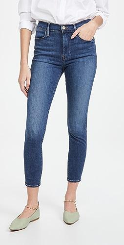 FRAME - Le High Skinny Crop Jeans
