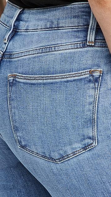 FRAME Le High 紧身中长牛仔裤