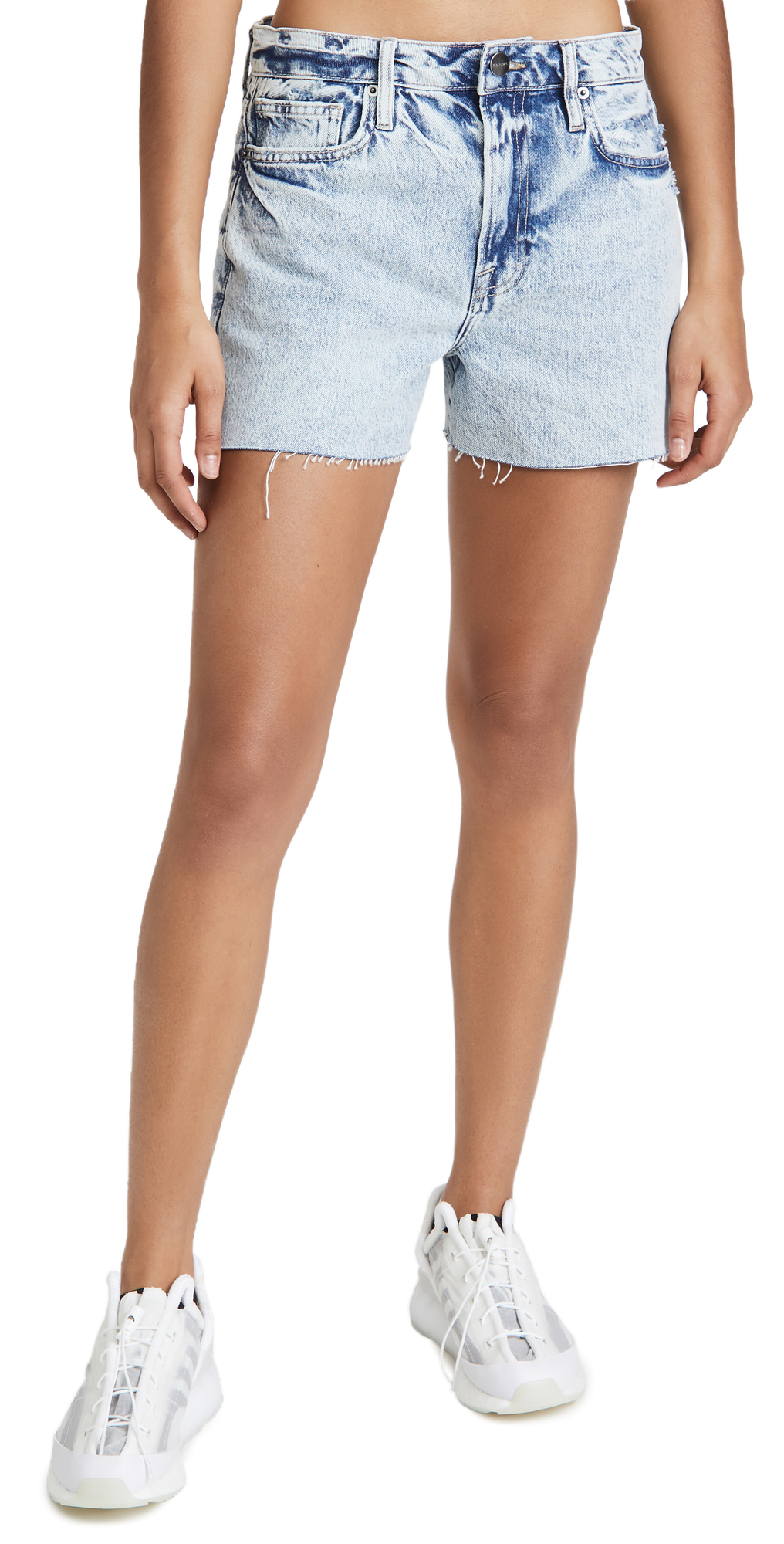 FRAME Le Simone Raw Shorts