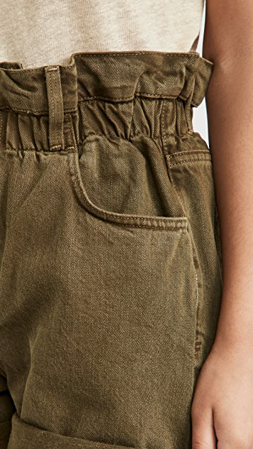 FRAME Elastic Waist Shorts