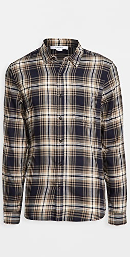 FRAME - Long Sleeve Single Pocket Shirt