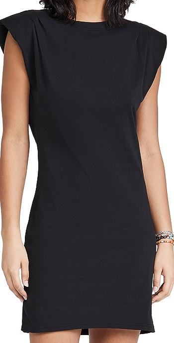 FRAME Padded Shoulder Dress - Noir