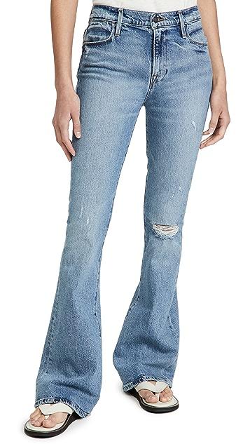 FRAME Le High 喇叭牛仔裤