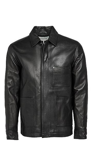 FRAME Leather Workwear Jacket