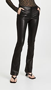 FRAME Le Serge Leather Trousers