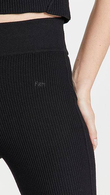 FRAME 罗纹针织长裤