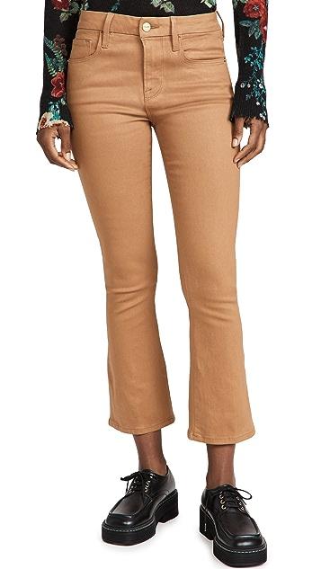 FRAME Le Crop Mini Boot Coated Jeans