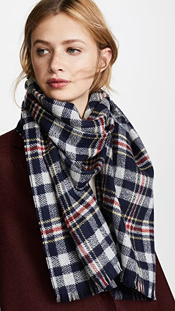Franco Ferrari Greg Plaid Scarf
