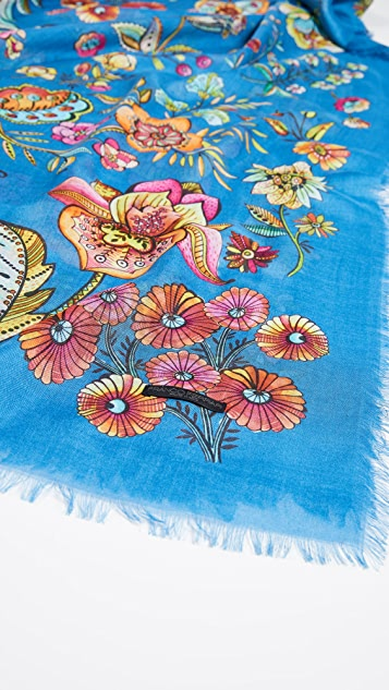 Franco Ferrari Amos 花朵围巾