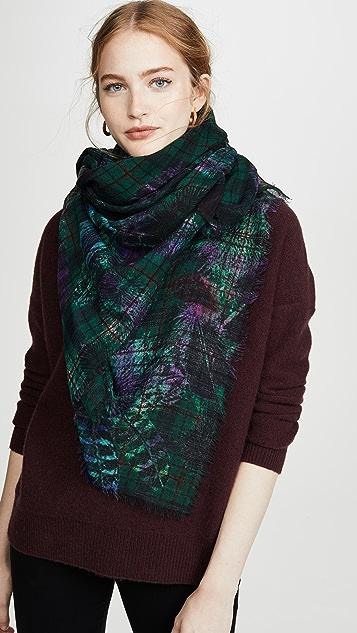 feather-print-scarf by franco-ferrari