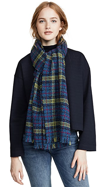 Franco Ferrari Plaid Metallic Scarf