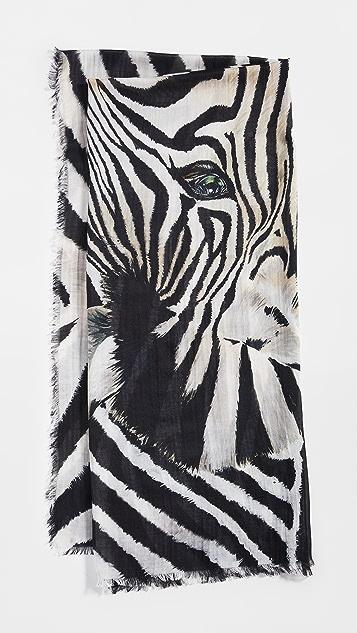 Franco Ferrari 斑马头围巾
