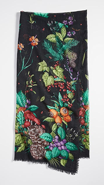 Franco Ferrari 花朵围巾