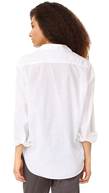 Frank & Eileen Eileen Semi Sheer Button Down