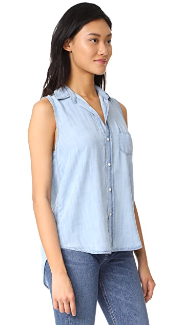 Frank & Eileen Fiona Sleeveless Button Down