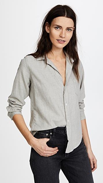 Frank & Eileen Barry Button Down - Washed Blue/Grey Flannel