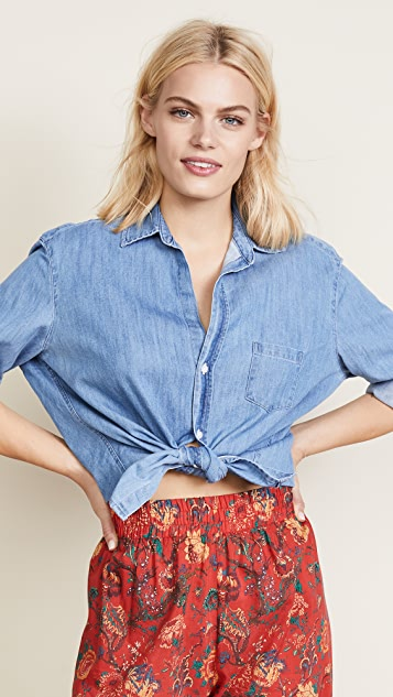 Frank & Eileen Eileen Button Down Top