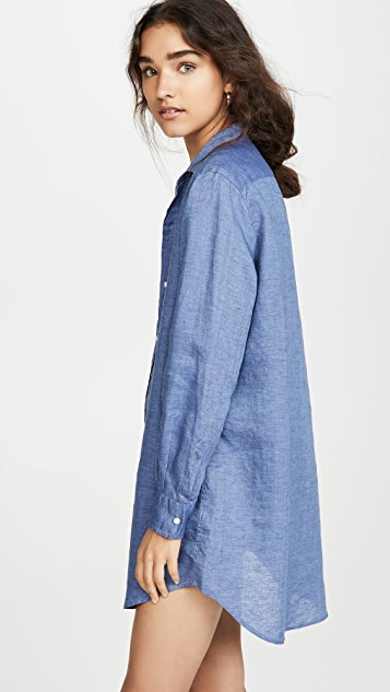 Frank & Eileen Mary Long Sleeve Button Down Dress