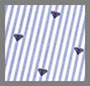 小巧深海蓝心形条纹