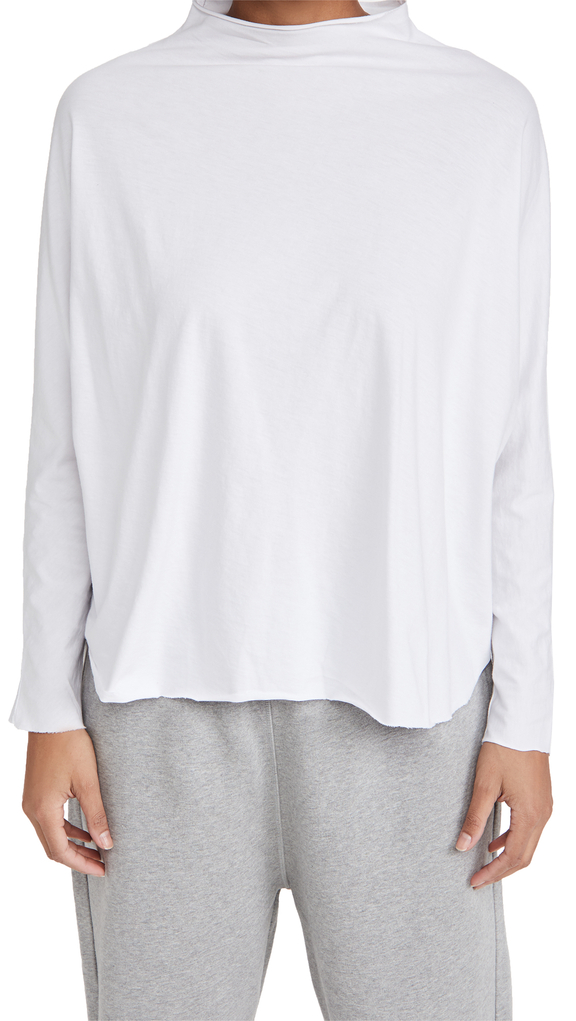 Frank & Eileen Funnel Neck Capelet Top