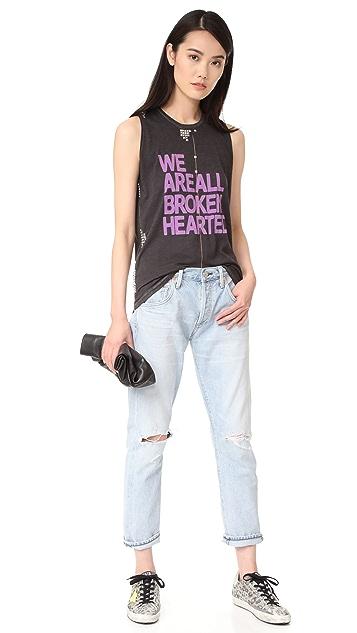 FREECITY Broken Hearted Studded T-Shirt