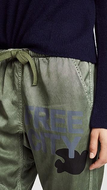 FREECITY Satin Jump Pants
