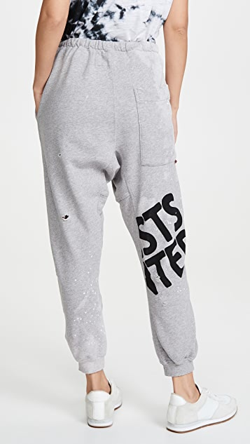 FREECITY Destroy Splash Pocket Sweatpants