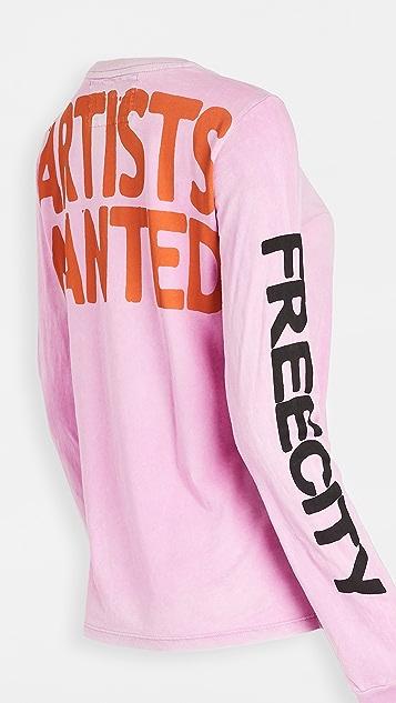 FREECITY Artists Wanted Long Sleeve Tee