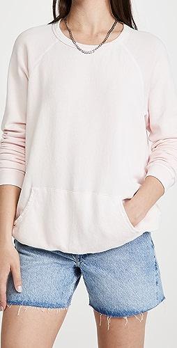 FREECITY - Purecolor Pocket Raglan Sweatshirt