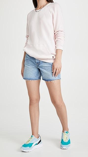 FREECITY Purecolor Pocket Raglan Sweatshirt