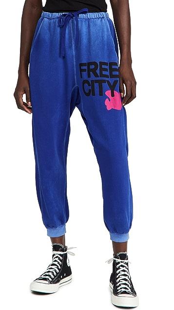 FREECITY Freecitylarge Sunfades Pocket Sweatpants