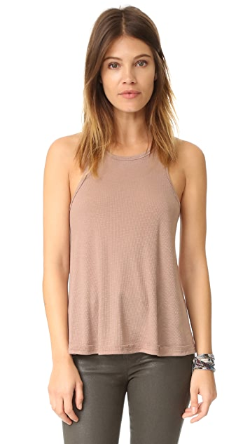 Free People Rib Slub Long Beach Tank