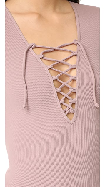 Free People Lace Up Layering Top