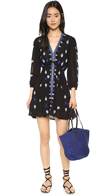 Free People Star Gazer Embroidered Dress