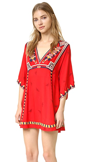 Free People Embroidered Tulum Mini Dress