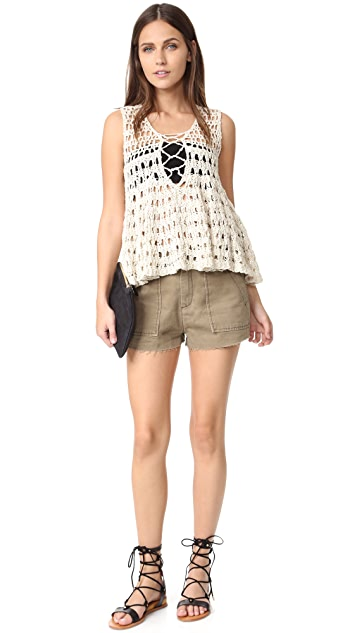 Free People Circles Within Circles Sweater Tank