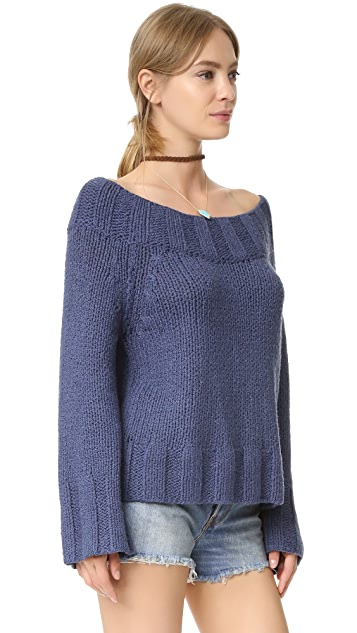 Free People Beachy Slouchy Pullover Sweater
