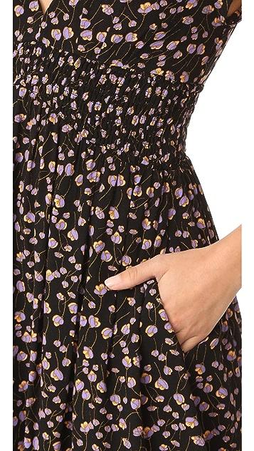 Free People Pretty Baby Printed Mini Dress